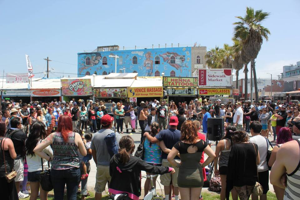 Venice Beach Crowd