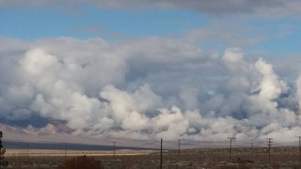 Clouds over a Mountain in Amargosa, Nevada