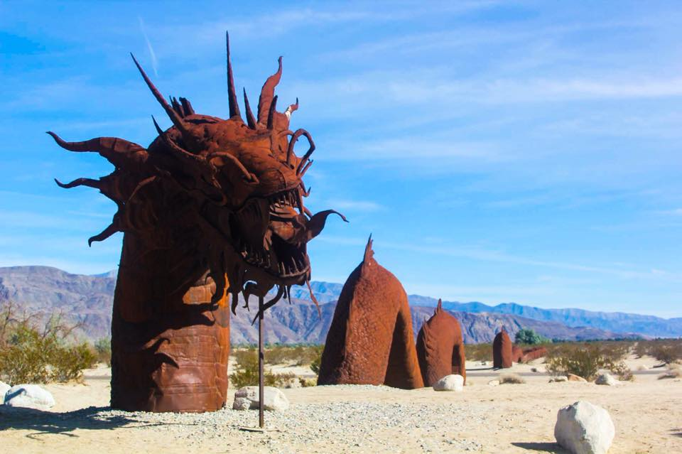Metal Sculptures in Anza Borrego