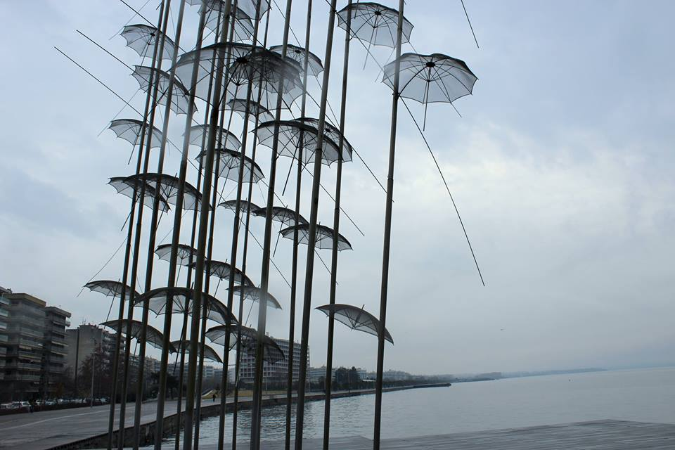 umbrellas in Thessaloniki